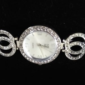 NY&Co Silver Double Circle Watch